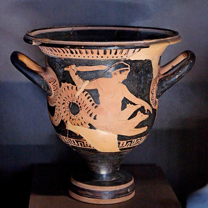 Voorstelling van Scylla op een roodfigurige vaas, ca. 450-425 v.C.