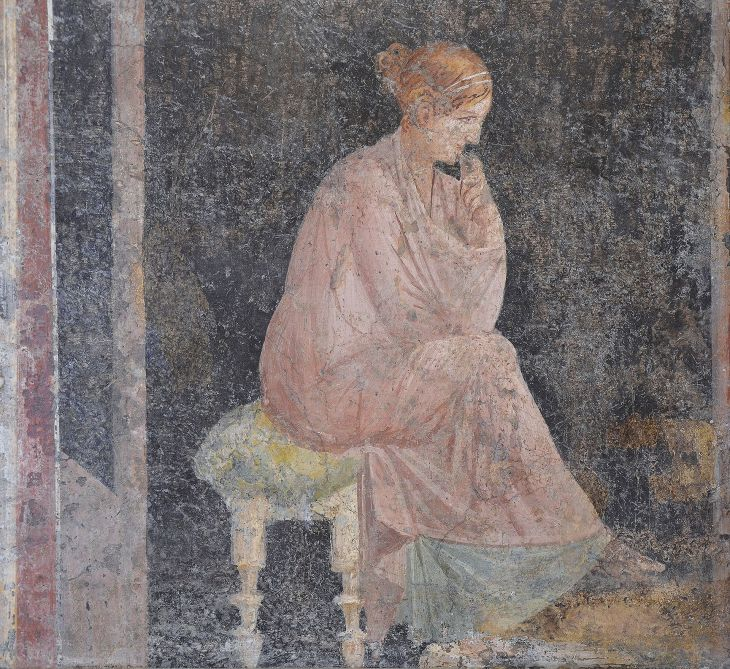 Fresco_depicting_a_seated_woman,_from_the_Villa_Arianna_at_Stabiae,_Naples_National_Archaeological_Museum