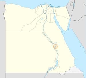 Kaart Egypte met ligging Thebe