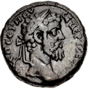 Tetradrachme van Septimius Severus, geslagen in Alexandrië in 195/6 n.C. (CNG, auction 105, lot 614)