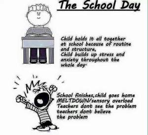school ontploffen autisme