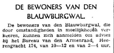Berichtje In alle kranten na 11 mei 1940