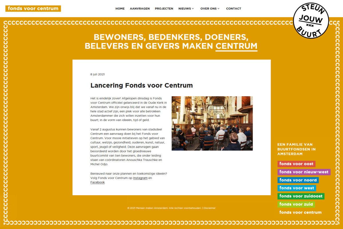 Lancering Fonds voor Centrum