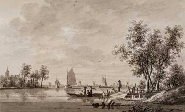Voetveer Honswijk in 1780