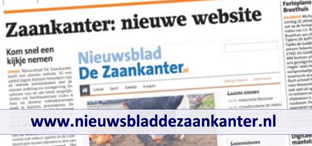 Nieuwe website Nieuwsblad De Zaankanter