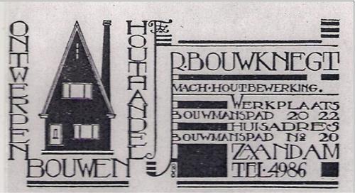 Advertentie R. Bouwknegt in 1934