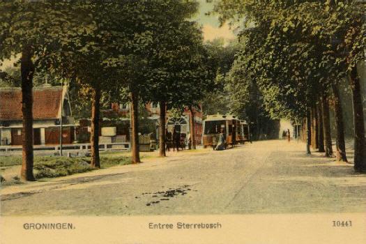 TMZG-tram bij beginpunt Sterrebosch