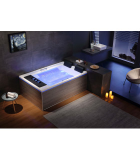 baignoire balneo duo 25 jets 186x122 ultra luxe