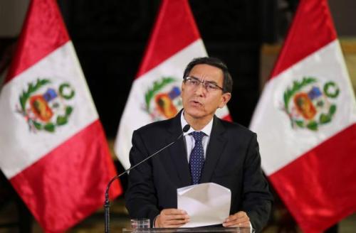 Martin Vizcarra a prononcé une allocution pour annoncer la dissolution du Parlement.