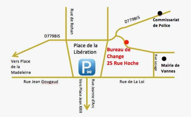 bureau de change vannes 25 rue hoche