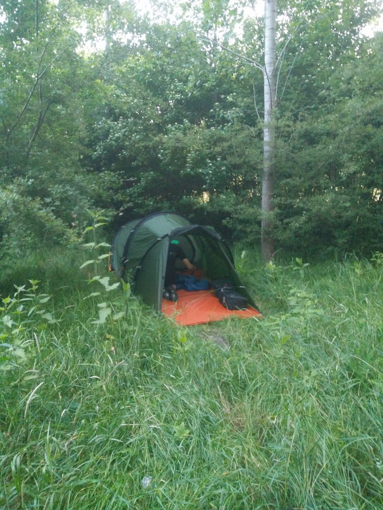 Wild camping by the Danube