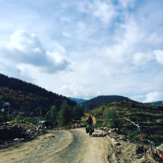 Riding in Sichuan