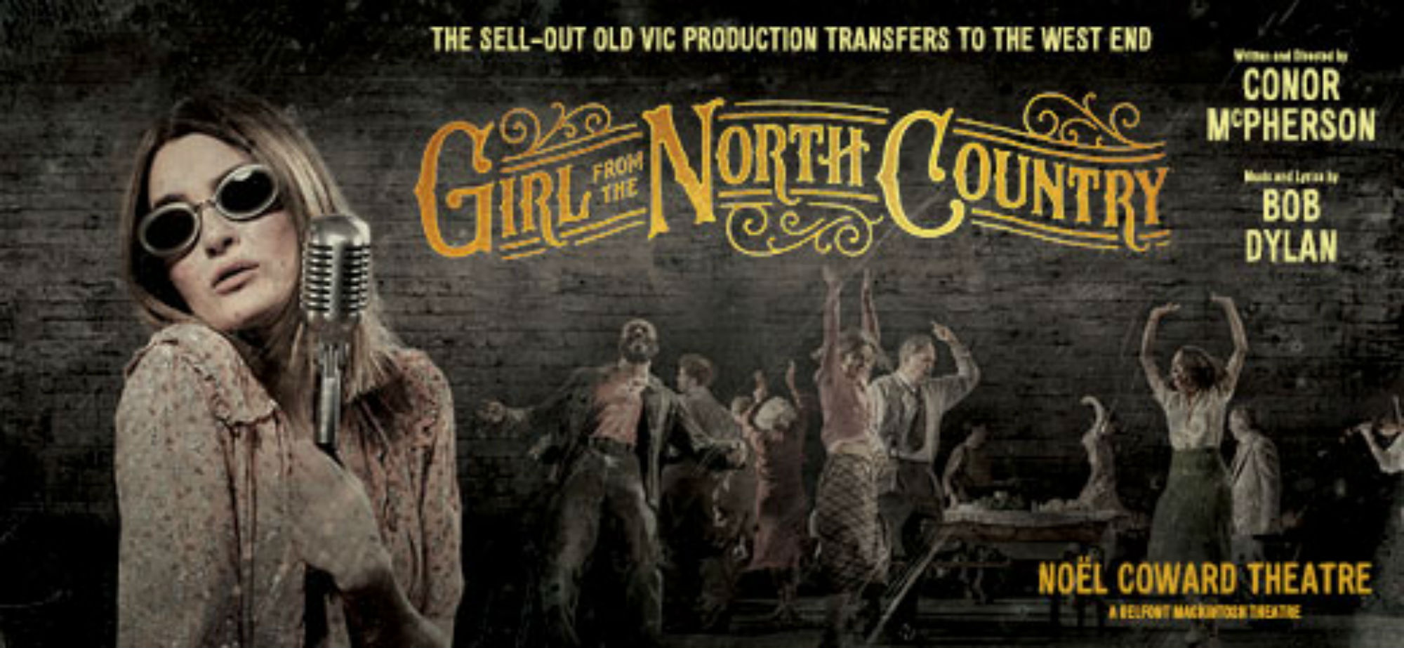 Poster for the transfer of Girl from the North Country at the Noel Coward Theatre