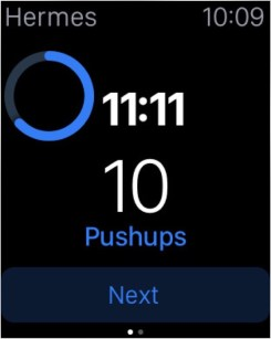 Freeletics sur iWatch Screen n°3