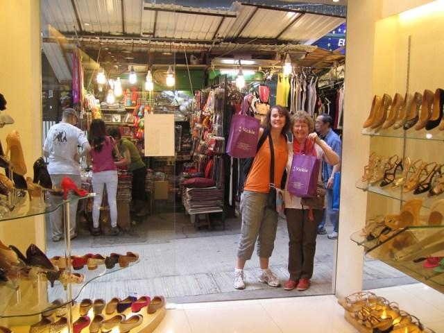 Shoe shopping at Vickies