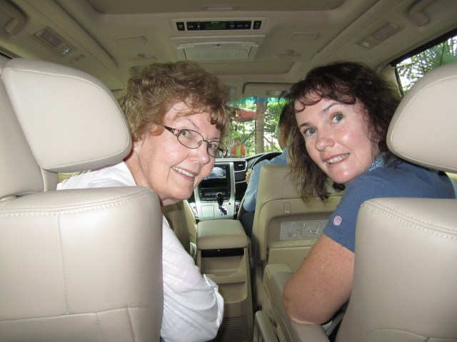 Mum & I in the private vehicle