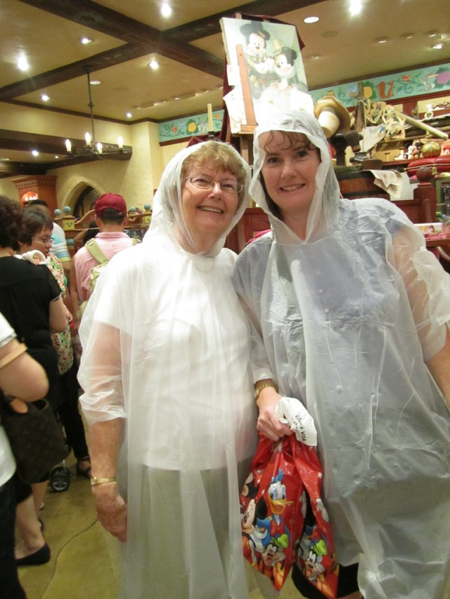 Mum & I in our poncho's