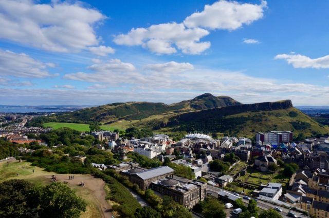 Arthur's seat, view over Edinburgh, Scotland