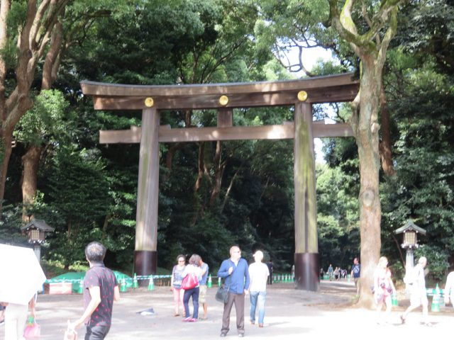 Entrance to Meiji Shrine with the Torii Gate