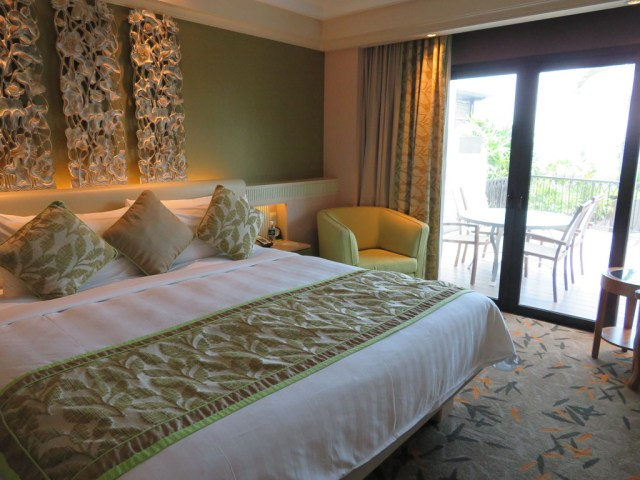 Master bedroom in the suite
