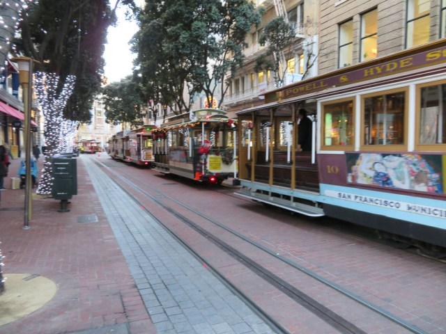 The famous San Francisco Cable Car is located right outside the hotel