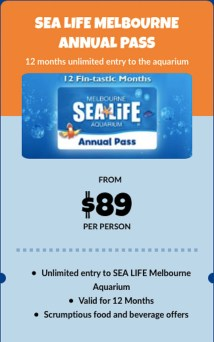 Sealife Aquarium Melbourne