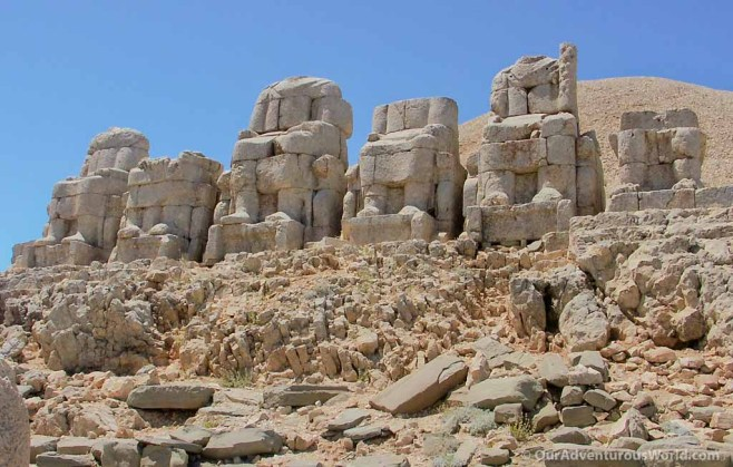 Beheaded statues on Mount Nemrut - Turkey.