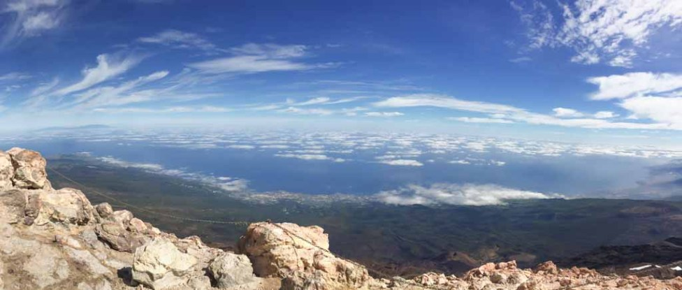 View from the summit of Mt Teide