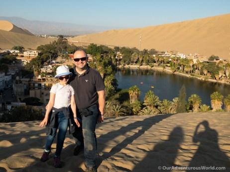 Overlooking the oasis