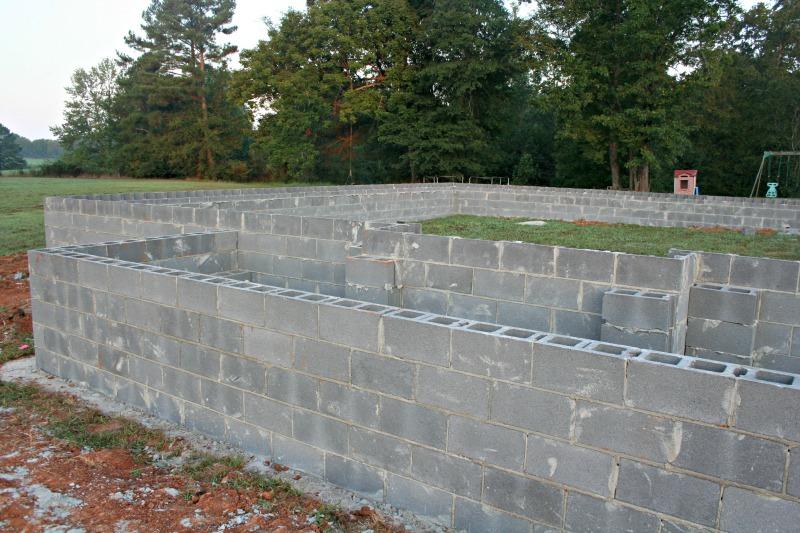Building a house foundation work our alabama life for Building a house foundation