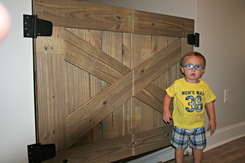 How To Build A Rustic Barn Door Baby Gate Our Alabama Life