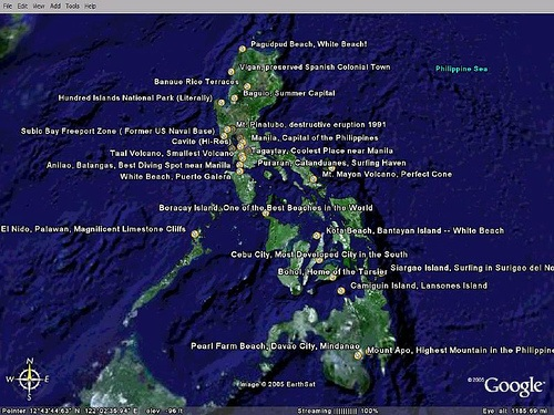 Google Earth Map Philippines First Philippines Google Earth Tour! • Our Awesome Planet