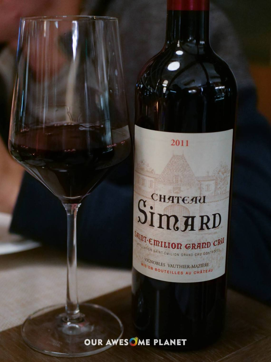 Chateau Simard Saint Emilion Grand Cru (Glass - ₱900, Half-Bottle - ₱1,700, Bottle - ₱4,000)