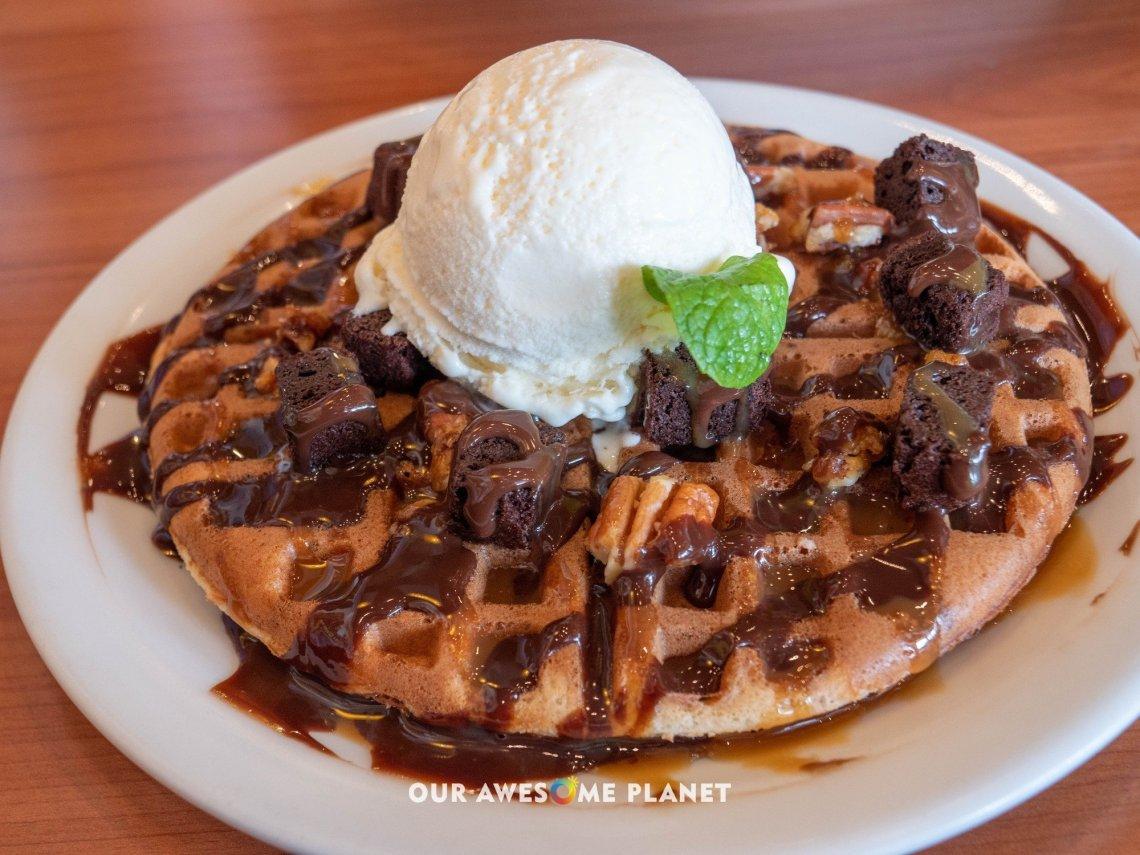 Fudgy Brownie Ala Mode Waffle