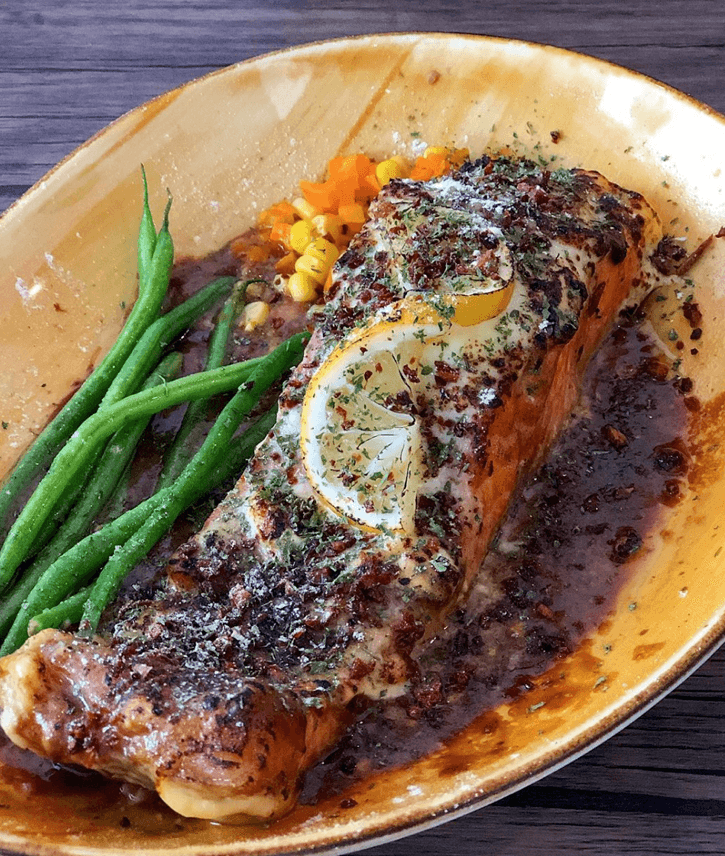 Baked Salmon with 3-Cheese 250-300 grams - (₱470)