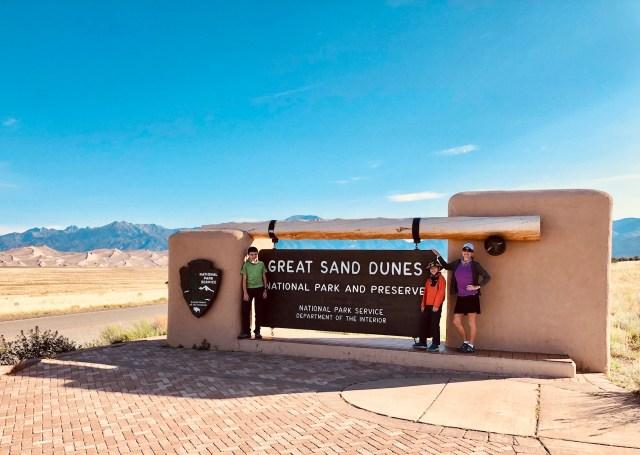 Great Sand Dunes National Park entrance sign.