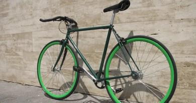 Bike Parked in sideways