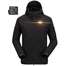 DEWBU Men's Soft Shell Heated Jacket with Battery Pack