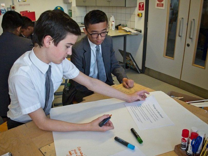 Bow School, Building Men's Health, generating ideas.