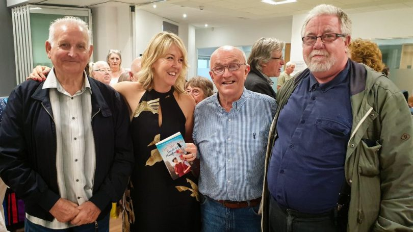Geezers with Kate Thompson at her book launch