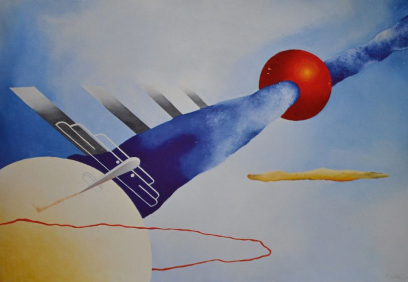 Mistero_aereo_(1930-31) by Fillia. Courtesy Museo dell'aeronautica Gianni Caproni