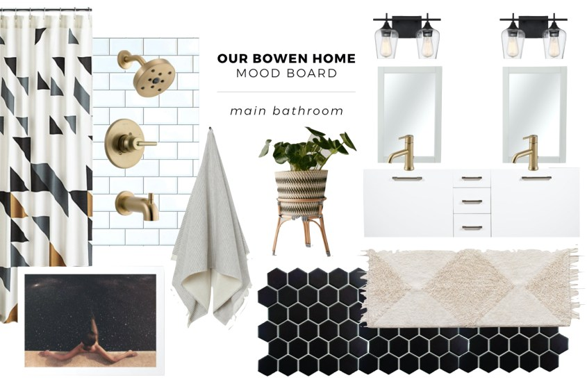 Ta Da! The Mood Board for our Main Bathroom