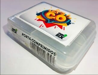 Porta-comprimidos com clip OurBox