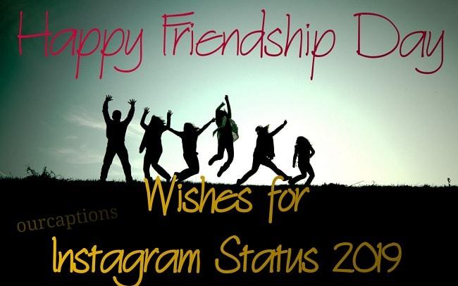 Friendship Day status for Instagram