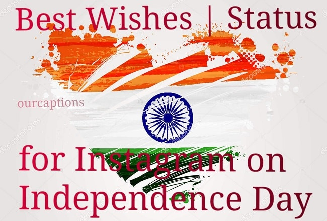 Best Wishes | Status for Instagram on 73rd Independence Day