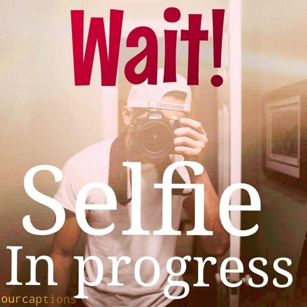 Caption for mirror selfie