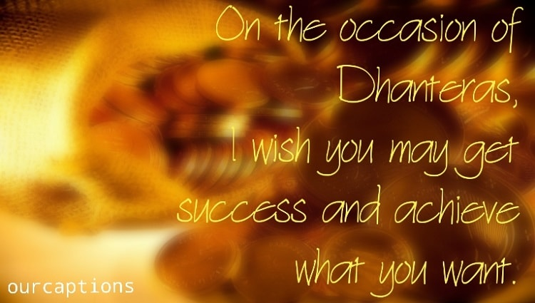 Dhanteras Quotes, wishes in English