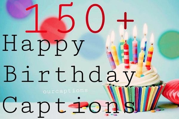 Happy Birthday captions
