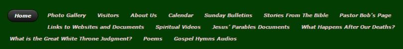 best church websites - too many menu items