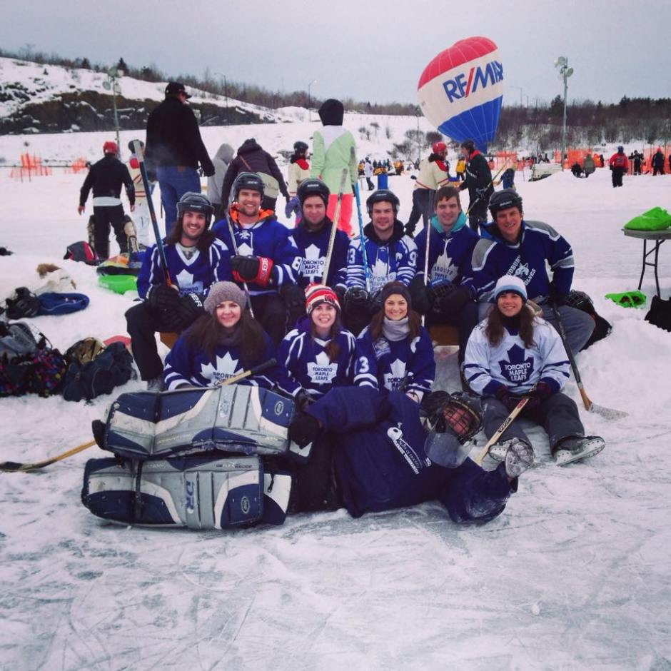 Pond Hockey Festival on the Rock